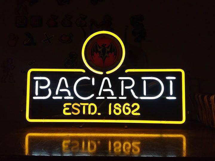 Custom Bacardi Estd 1862 Neon Sign Tube Neon Light